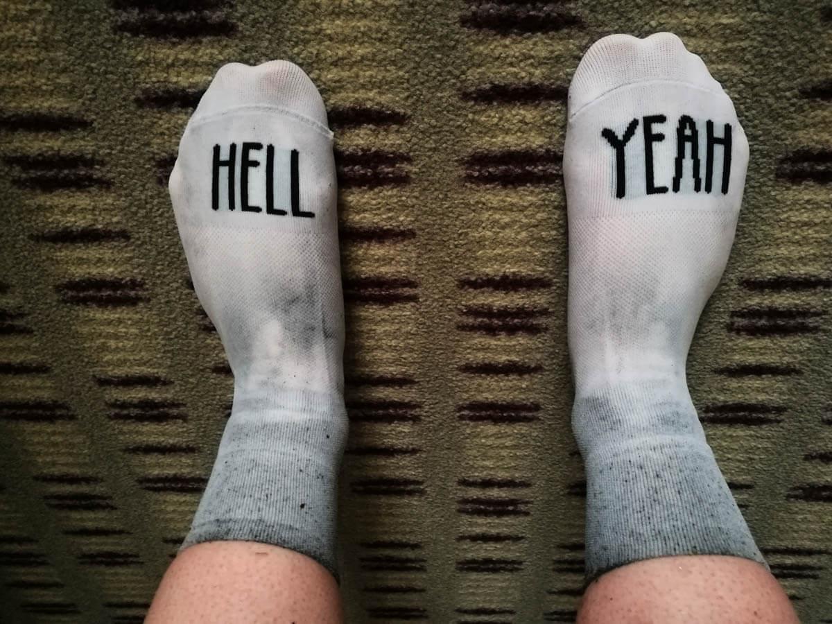 Hell Yeah Sockdoping Jedermannrennen Eschborn Velotour