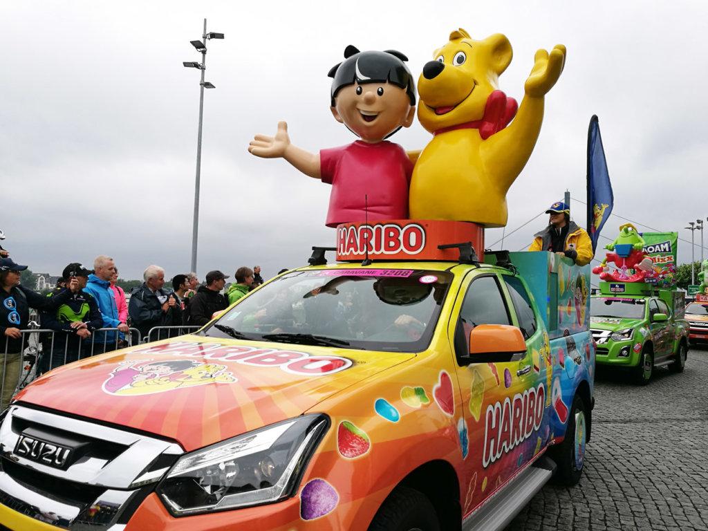 Werbekarawane Tour de France Düsseldorf