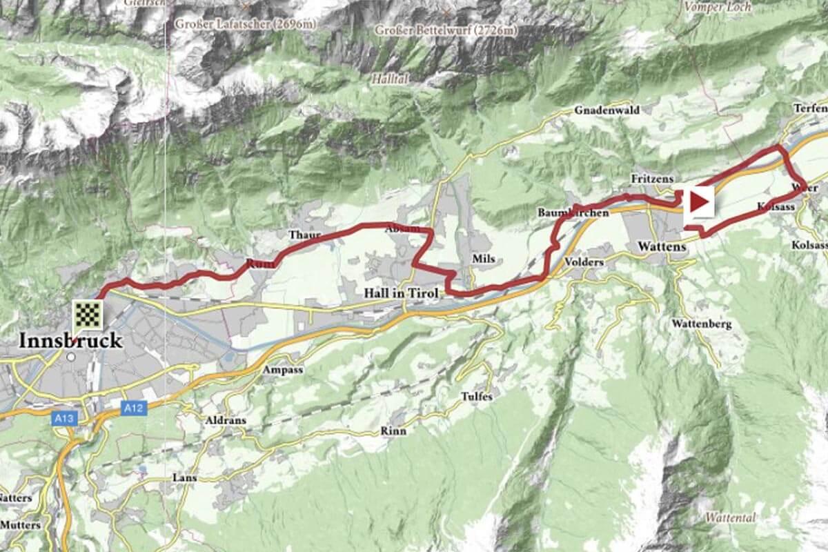 Strecke EZF Damen Elite - Rad-WM Innsbruck
