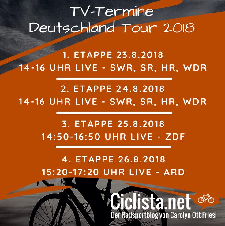 TV Termine Deutschland Tour