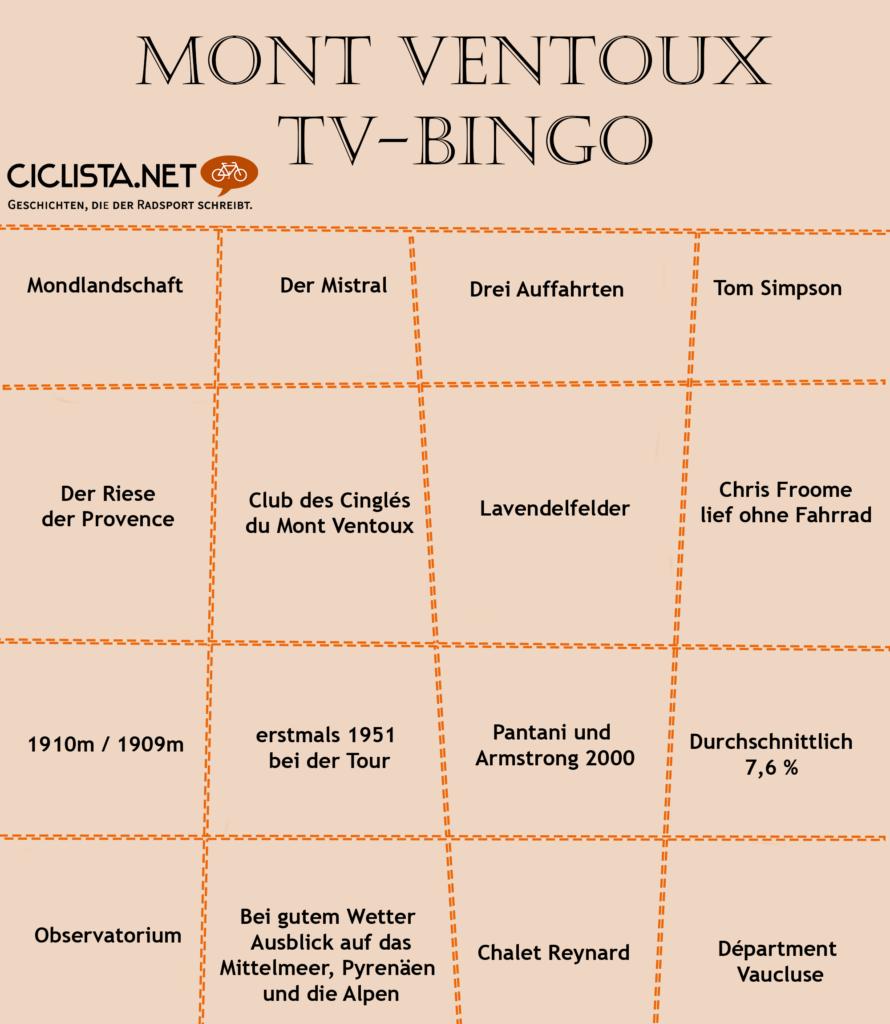 Mont Ventoux - TV Bingo