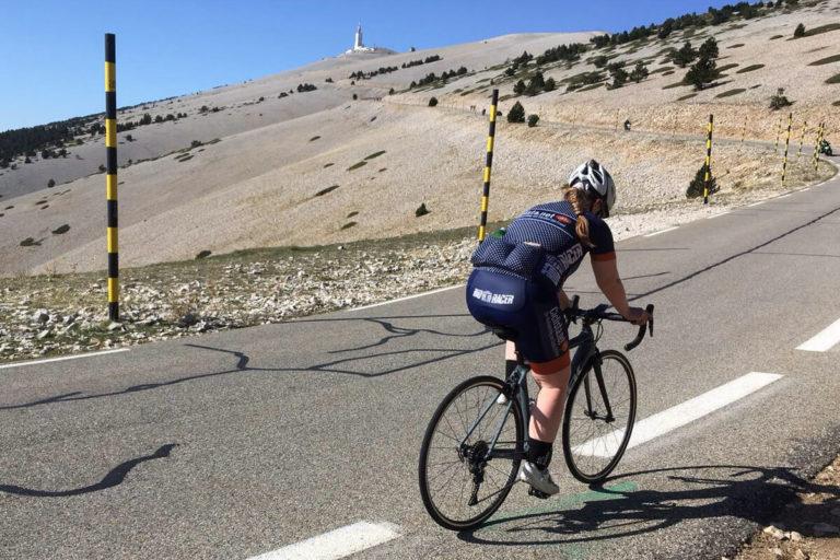 Carolyn Ciclista Mont Ventoux