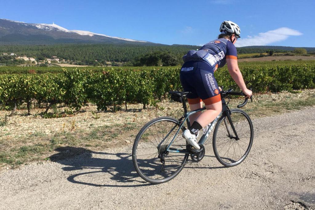 Mont Ventoux Rennradfahrerin