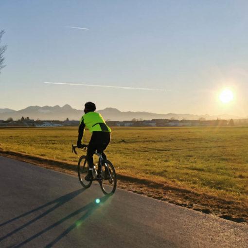 Radfahren während Corona: Am besten alleine.