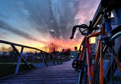 bike to work sunset
